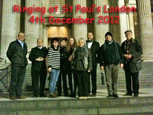 Bellringers' trip to St Paul's