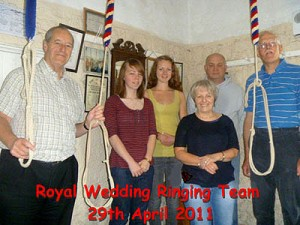 Biddenden's bellringing team rings for the Royal wedding