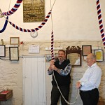 Klaus Wallrabenstein, pastor of Zornheim and Mainz-Ebersheim churches in Germany, testing a rope at All Saints Biddenden